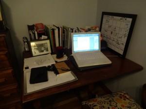 El escritorio donde escribo